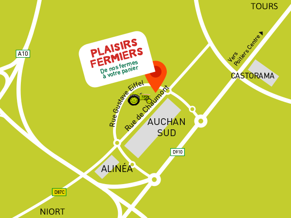 Poitiers with auchan poitiers sud for Poitiers auchan sud
